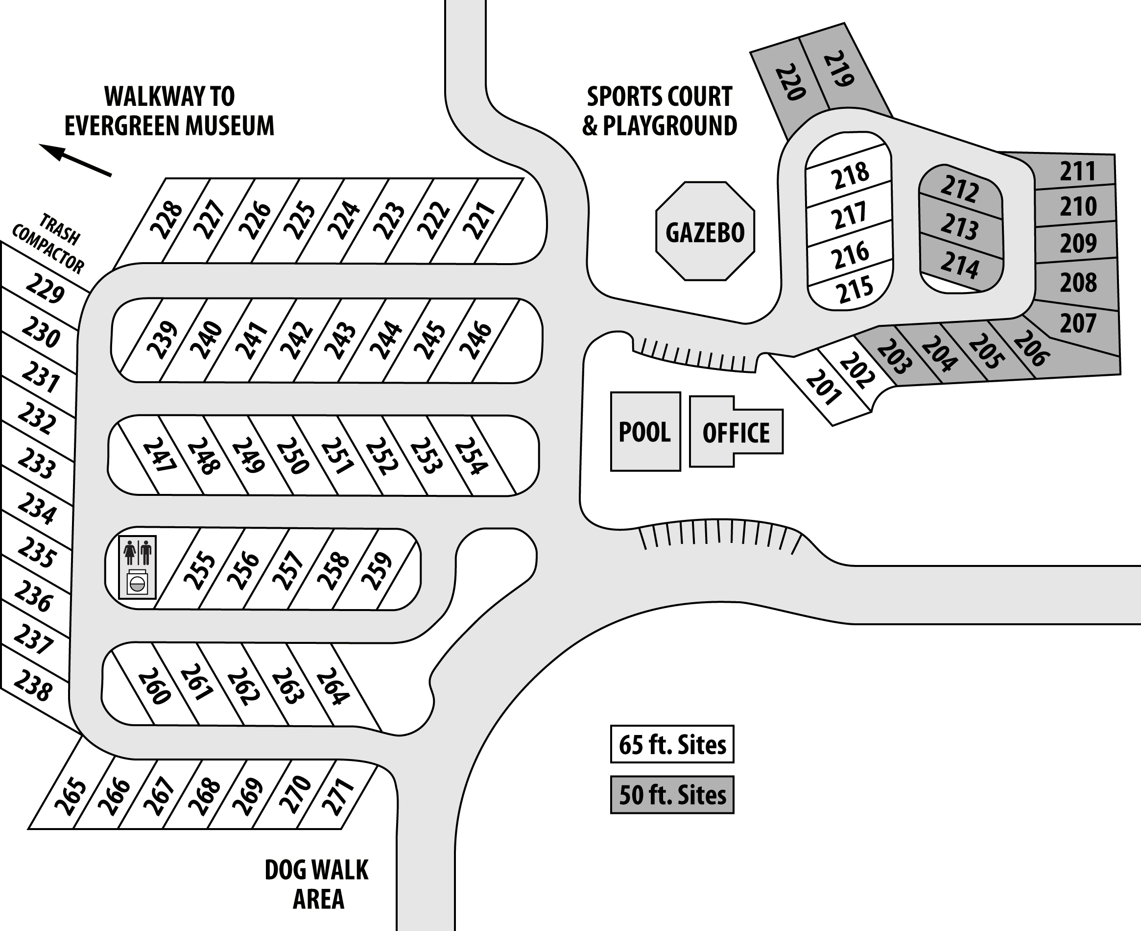 Oldestone Village rv park map